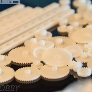 67件齿轮齿条组塑料许多尺寸齿轮模型制作