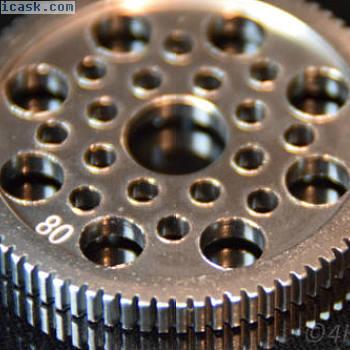 万向齿轮80T模块0.5差速合力汽车齿轮80齿RC铝合金