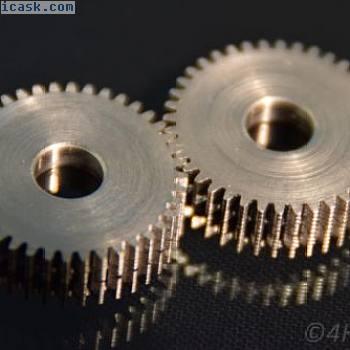 2齿轮链轮,齿轮模块0.5驱动40齿金属伺服6mm轴