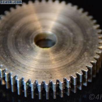 钢齿轮,小齿轮0.8M50T齿轮模块0.8驱动50齿金属8mm轴