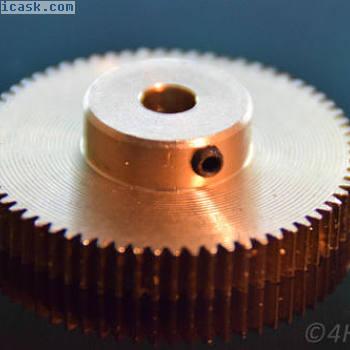 齿轮68小齿轮模块0.5黄铜轮毂5毫米轴驱动RC挤出机3D
