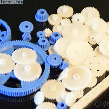 61件齿轮组塑料尺寸不同,齿轮型号为RC
