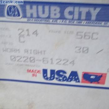 BOX HUB CITY 0220-61224-214款式C蠕虫齿轮减速比30:1