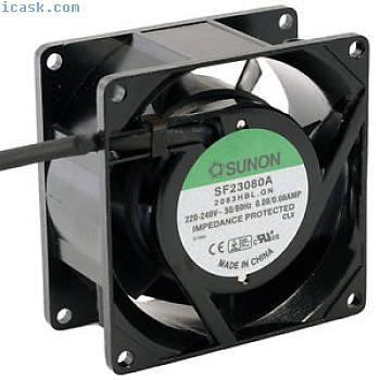 SF23080A2083HBL轴向风扇80x80x38mm 230V?2400Umin从Sunon