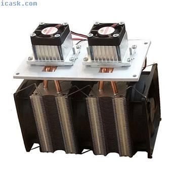 12V DIY 12A 144W电子半导体冰箱散热器双头套件