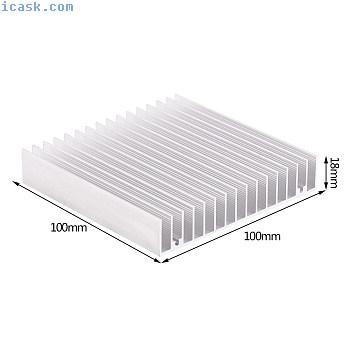 100x100x18mm铝合金散热器散热器散热器,用于CPU IC LED电源gmk