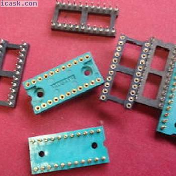 稀有镀金IC插座22针标准栅格2.54mm 7x 24415