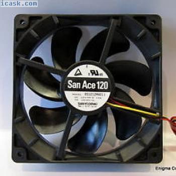 高品质三洋王牌120毫米12V风扇,58.6CFM。