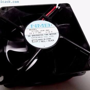 NMB美蓓亚3110KL-05W-B60 24V 0.18A 80mm风扇