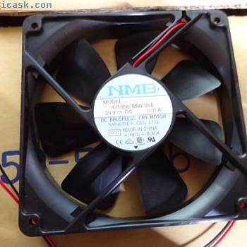 NMB 24V 120mm风扇0.31A 4710NL-05W-B50-D00直流无刷电机苗条
