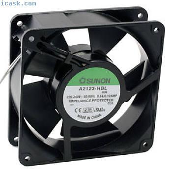 A2123-HBL Axial-Lüfter120x120x38mm 230V?164m3h2700Umin由Sunon