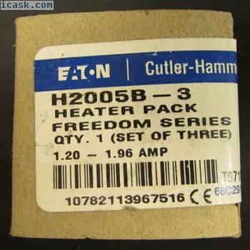 EATON CUTLER HAMMER H2005B 3个H2005B-3加热器套件