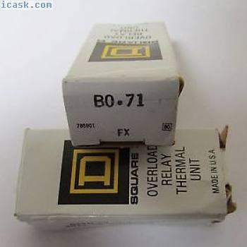 SQUARE D B 0 71热过载继电器加热元件B 0.71