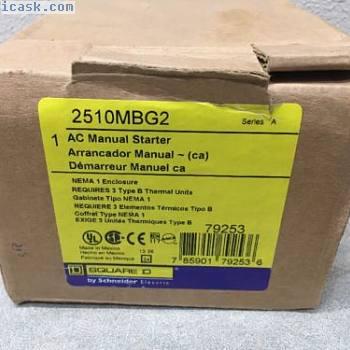 SQUARE D 2510 2510MBG2 3 PHASE MANUAL电动起动器5HP @ 480V STARTSTOP新