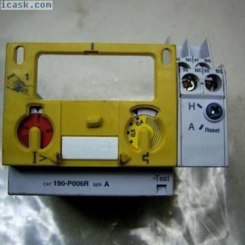 (5704)F Allen Bradley跳闸单元190-P006R 0.4-0.6Amp热继电器1No1Nc