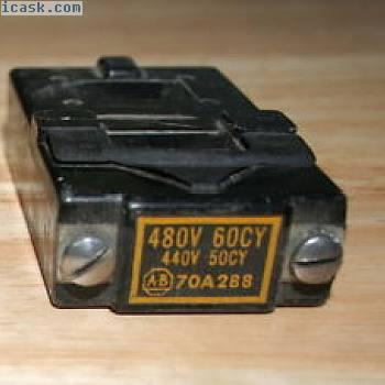 Allen Bradley 70A288二手控制线圈440480V 5060HZ,尺寸0,系列700K