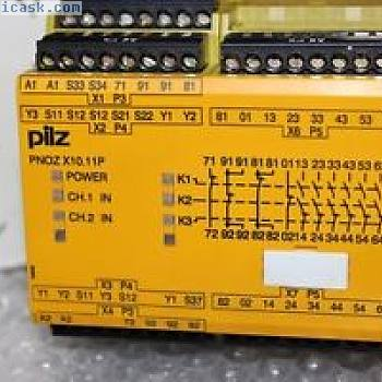 PILZ紧急停止开关设备PNOZ X10.11P -777750 24VDC 6no 4nc 6LED NEW
