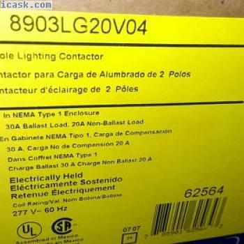盒装方形D型照明接触器8903LG20V04电保持2极