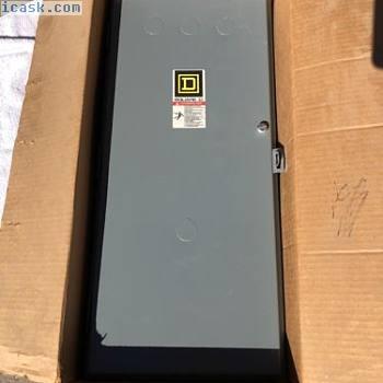 SQUARE D 8903 SQC2 S型100A AMP照明接触器外壳全新装箱