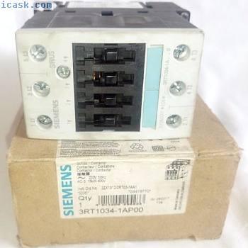 西门子3RT1034-1AP00接触器:3极