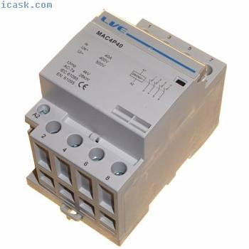 40安交流接触器26kW 4极常开DIN导轨安装加热照明