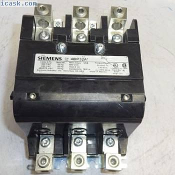 西门子40IP32A接触器3极,115 AMP,600 VAC,尺寸3 12 40IP32AF