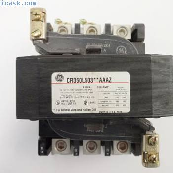NIB GE CR360L50304AAAZ照明接触器100安培3极开路480600 VAC