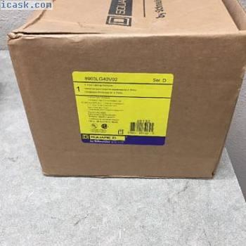 SQUARE D 8903LG40V02 4极30 AMP 120V线圈NEMA 1照明接触器*新*