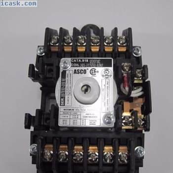 Asco 918 12极20A照明接触器线圈265-277V50-60HZ用于分支电路