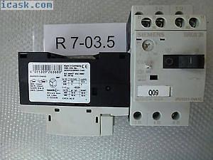 2个西门子3RV1011-1HA10,调整范围5.5至8A未使用