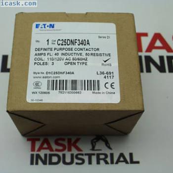 伊顿专用接触器C25DNF340A系列D1
