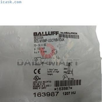 新款巴鲁夫BES M18MF-USC70B-S04K电感式传感器,7mm 2线制DC,NO M12 4针