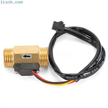 """G12""""DN15铜霍尔效应液体水流量传感器开关流量计"""