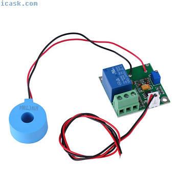 电流传感器模块AC检测模块50A开关输出高Q.