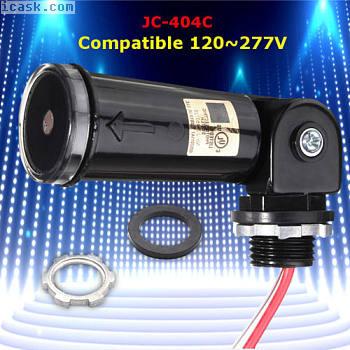 LED黄昏到黎明户外GirarFotoeléctricoControlar Detectar Sensor 120〜277V