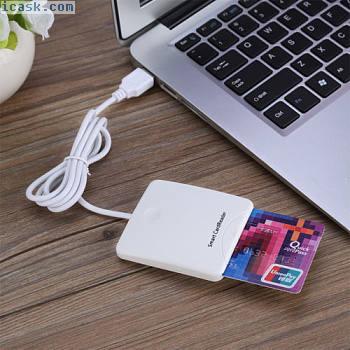 便携式USB接触式智能芯片卡IC带有SIM卡插槽的CreditCard读卡器O