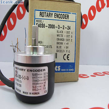 AUTONICS旋转编码器E40S6-2000-3-T-24 12-24VDC NIB