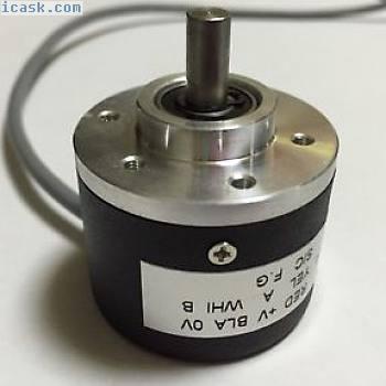 新型增量式光学旋转编码器1024PR AB相位编码器6mm轴5-24V