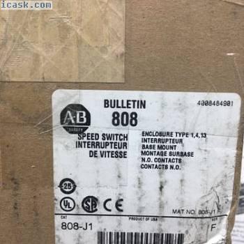 808-J1全新原装艾伦布拉德利风格J低速零开关15-80 RPM数量