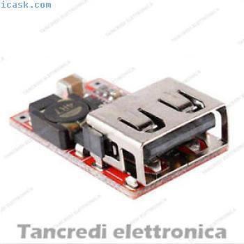 Convertitore DC DC USB Step-down 9V 12V 24V A 5V 3A Buck Converter trasformatore