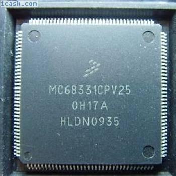 MOTOROLA MC68331CPV25 QFP-144 32BIT MCU GPT SIM QSM