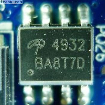 1X AO4932 Asymmetric Dual N-Channel EMFET