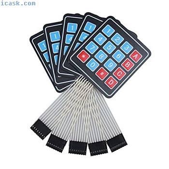 Lot de 5 4x4 Matrix eventail 16 touches de clavier Membrane commutateur Pour Ard