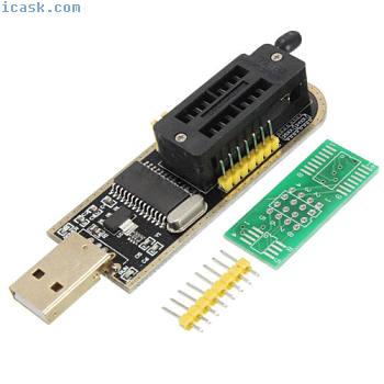 HU CH341A USB Programmer 24/25 Serie Graveur BIOS Writer SPI Flash + Tableau de