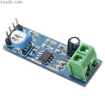 LM386 Audio Amplifier Module 200 Times 5-12V 10K Adjustable Resistance R4H7