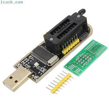 CH341A USB Programmer 24/25 Serie Burner Chip BIOS Writer SPI Flash+Pinboar I8L1
