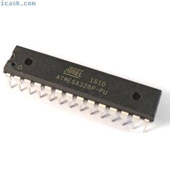 ATMEGA328P, ATMEL, AVR 8-bit Microcontroller, 32KB Flash, DIP-28, UNO Bootloader