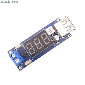 DC-DC buck power supply module 6.5v12V ~ 40V to 5V + car voltage meter USB E3L7
