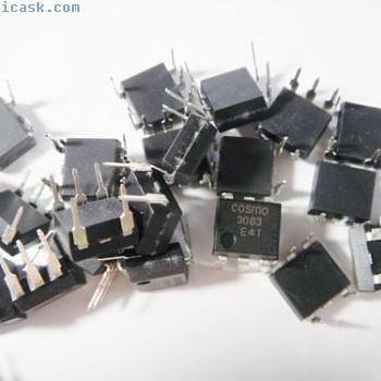1000 x 800V 1A TRIAC Optokoppler MOC3083 = COSMO3083 #15J81#