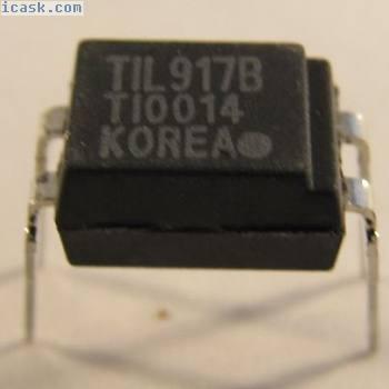 10 Stück - TIL917B Texas Instruments DIP4 Optokoppler 5,3KV Opto Coupler - 10pcs